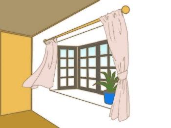 壁側のカーテン